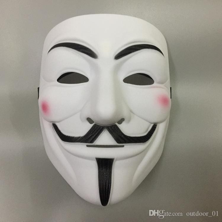 Cadılar Bayramı Cosplay Kostüm Topu Korku Gig V-maskesi V inek maskesi korsan maske hayalet dansı yüz maskesi erkek