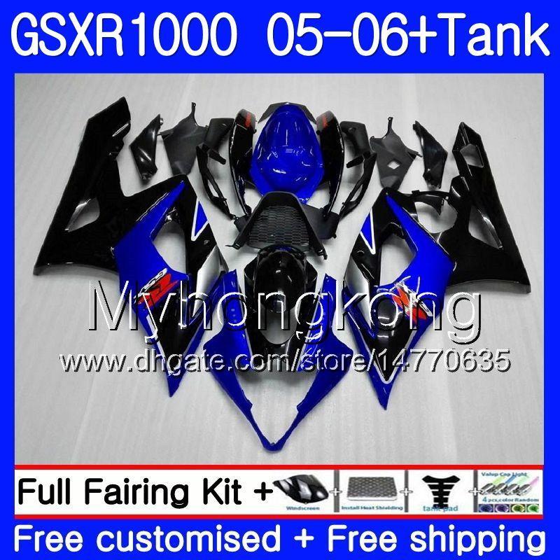 For 2005 2006 Suzuki GSXR1000 K5 05-06 Silver Screen Double bubble Windshield