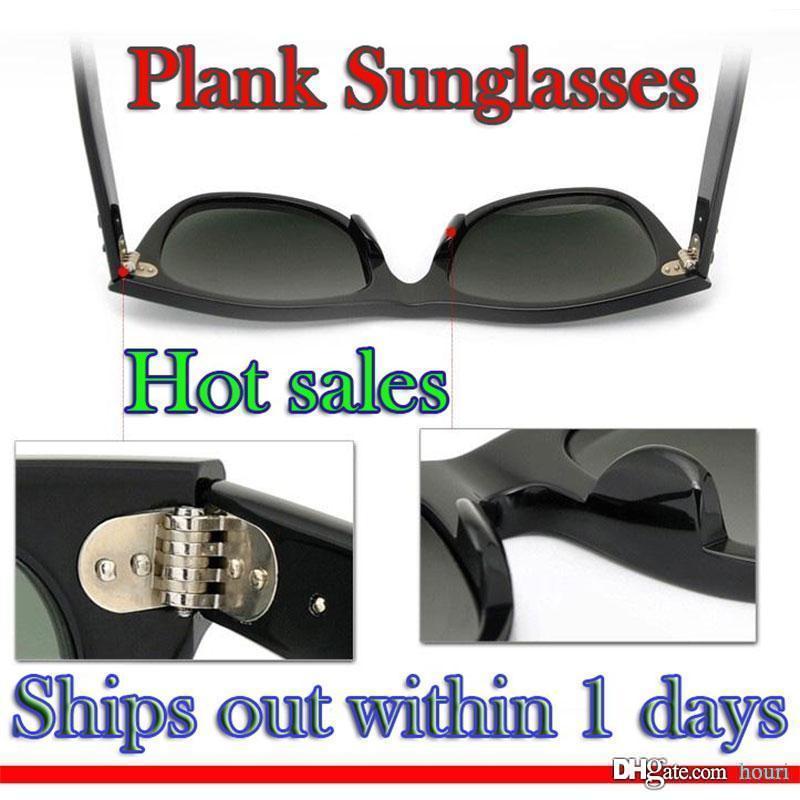 Hochwertige Planken Sonnenbrille Schwarze Sonnenbrille Glas Metallscharnier Sonnenbrille Herren Sonnenbrille Damen Brille Markendesigner Sonnenbrille LOGO