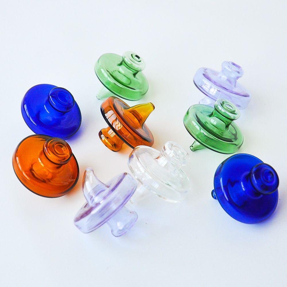 Colored Glass Carb Cap banger For Less than 35mm domeless Quartz Banger Nail 2mm 3mm 4mm Thick quartz nail oil rig free shipping