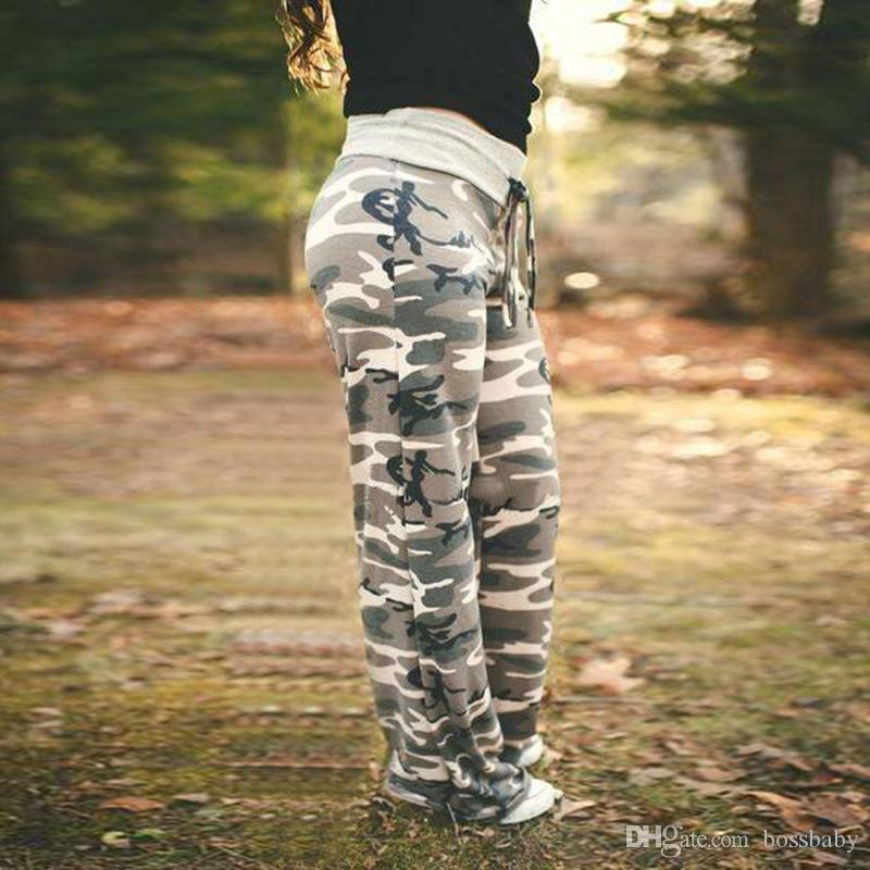 962c410837129 ... Maternity Pants Pregnant Women Trousers Mid-Rise Straight Pants Strap  Elastic Band Waist Loose Camouflage
