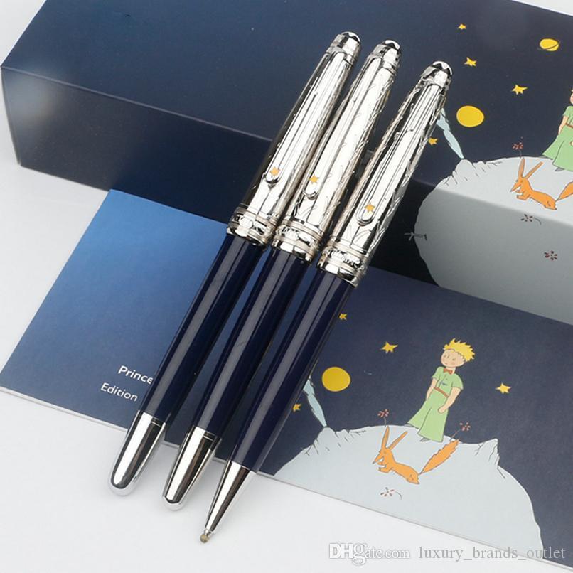 Classique Petit Prince темно-синий и серебряный колпачок гладкие ручки для подарков на День святого Валентина Tu, мужские классические MB роскошные запонки
