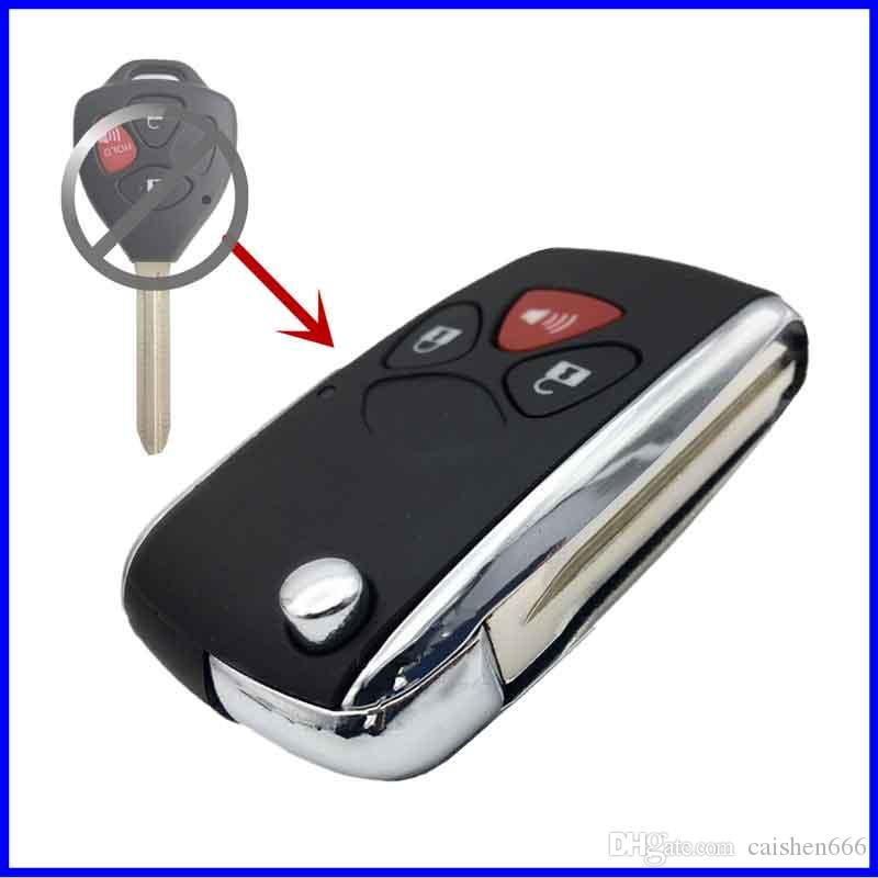2Buttons +Painc Replacement Remote Car Key Shell Case Fob For Toyota Camry Corolla Vichy Rex Key Uncut Blade