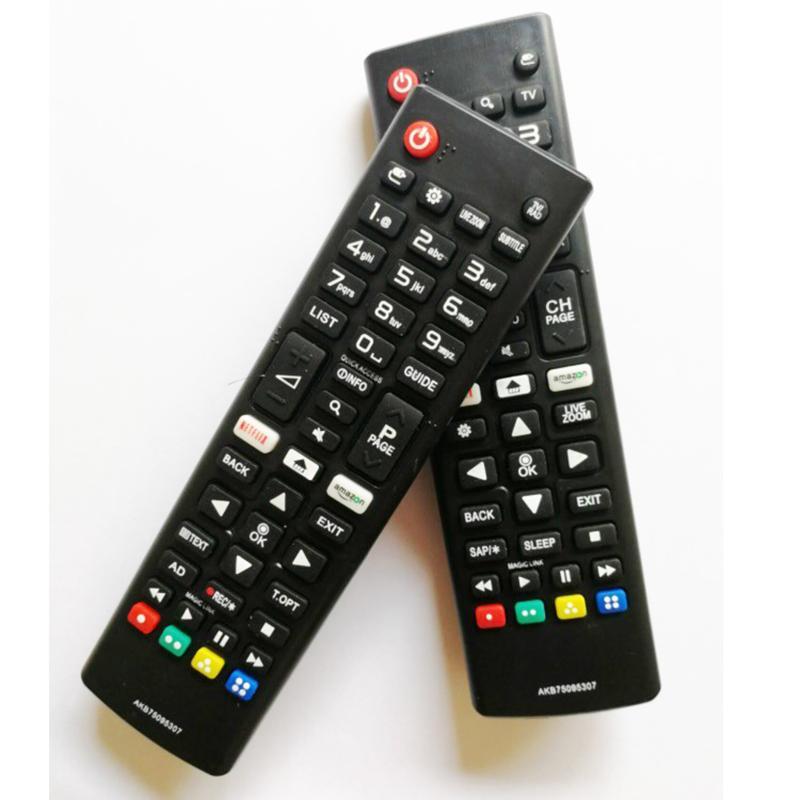 amazon / netflix Düğmeler AKB75095307 / AKB75095303 LED TV Uzaktan Kumanda İçin LG 55LJ550M 32LJ550B 32LJ550M-UB
