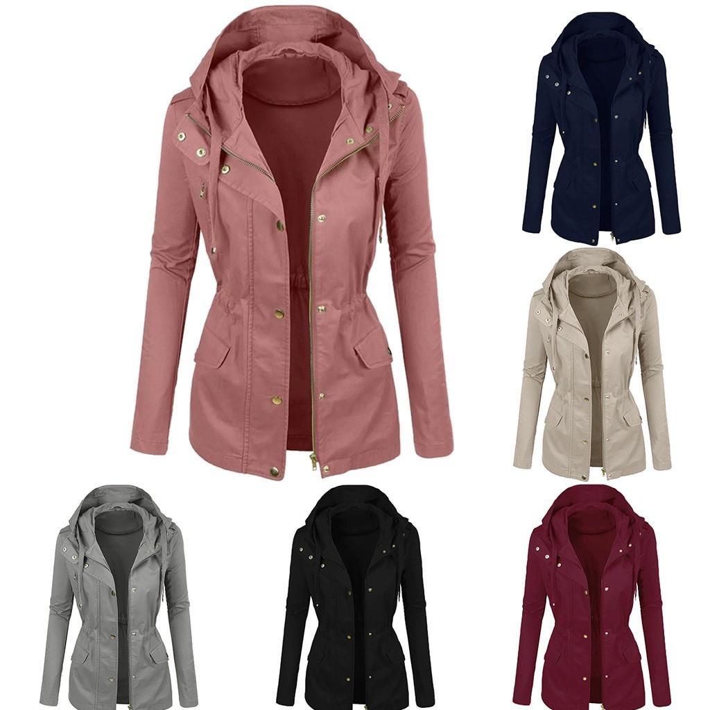 Кожаная куртка Женщины 2019 Пальто Faux женщин кожаные куртки готические Мотоциклетные Pu пальто Верхняя одежда с капюшоном на молнии женские пальто # j30
