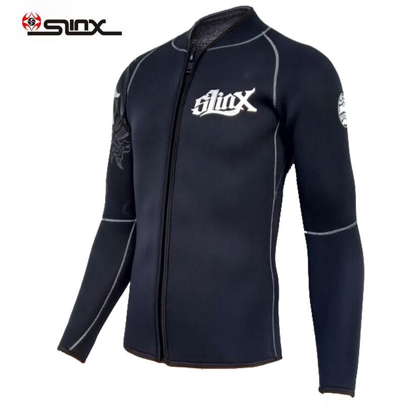 Slinx 5 мм неопрена гидрокостюм мужская кофты с длинным рукавом дайвинг гидрокостюм топ Супероблегченный размер S до XXXL