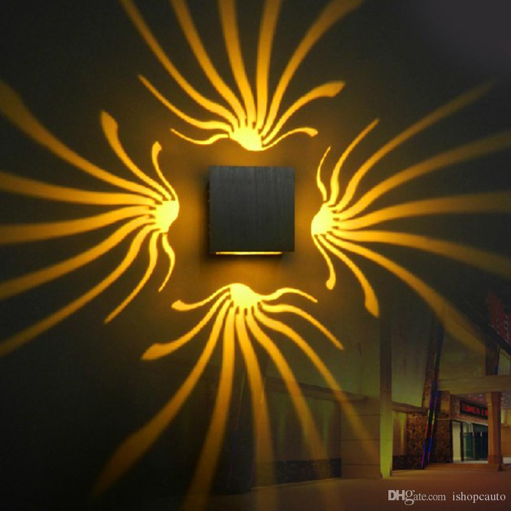 Zeitgenössische LED-Wandlampen beleuchtet Beleuchtungskörper für Haupthotel-Bar, buntes Wandlampen-Aluminiumlicht AC110-240V batteryfly - RNB72