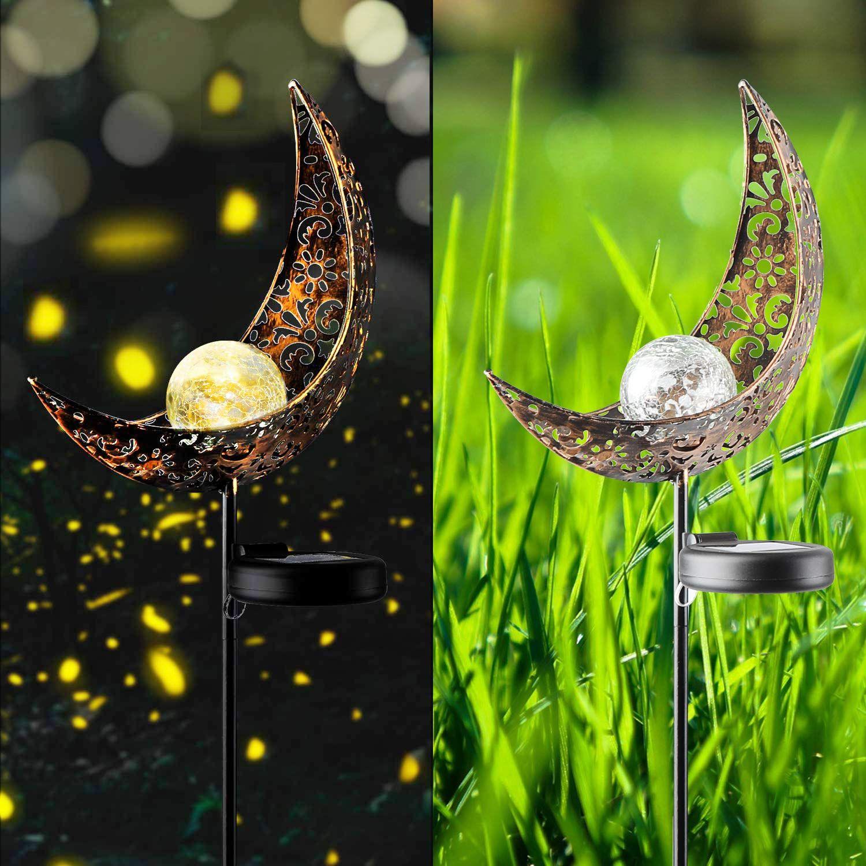 Solar Powered Pathway Moon Crackle Solar Garden Stake Light Outdoor  Decorative Spotlights vpkovacica Tools & Home Improvement