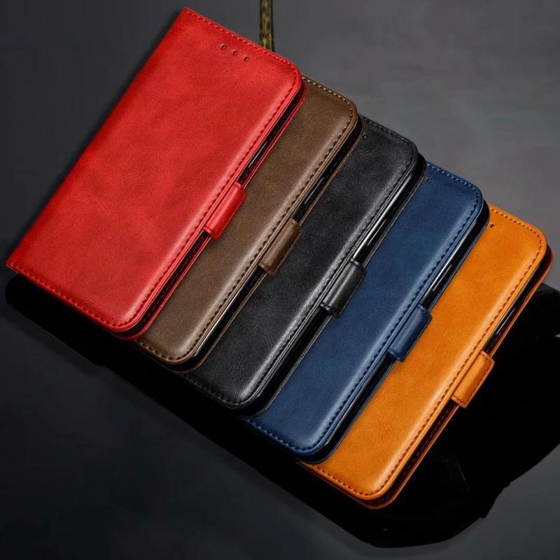 Casos carpeta de cuero para Samsung Galaxy S20 S20 Ultra Plus A51 A71 S20 tarjeta de la ranura del sostenedor Identificación de bolsillo de la PU del tirón del cuero soporte de la cubierta de la bolsa monedero