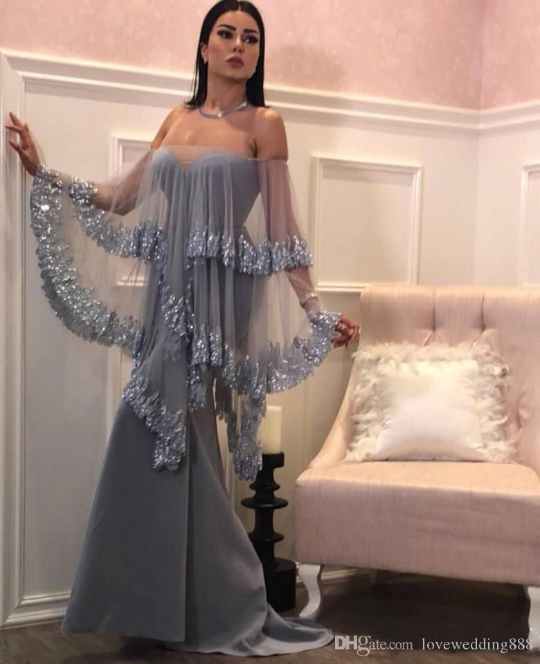 2019 Sexy Sweetheart sirena vestidos de baile con apliques brillantes de tul envolver largos vestidos de fiesta de noche formal