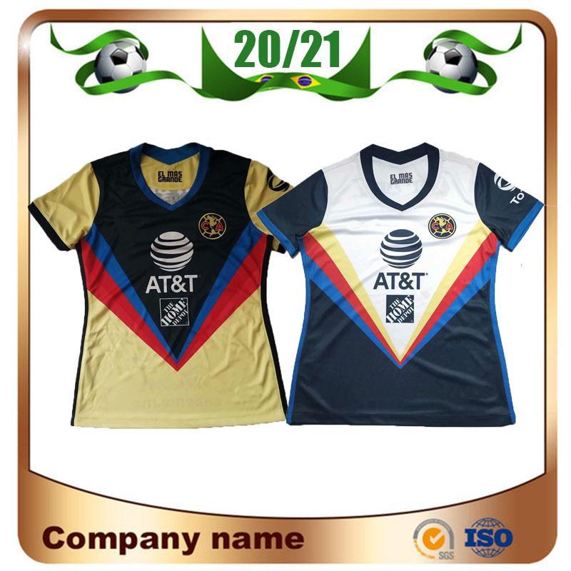 P.AGUILAR menina mulher 2020 LIGA MX Club America Futebol 20/21 equipe da América C.DOMINGUEZ O.PERALTA shirt do futebol uniforme