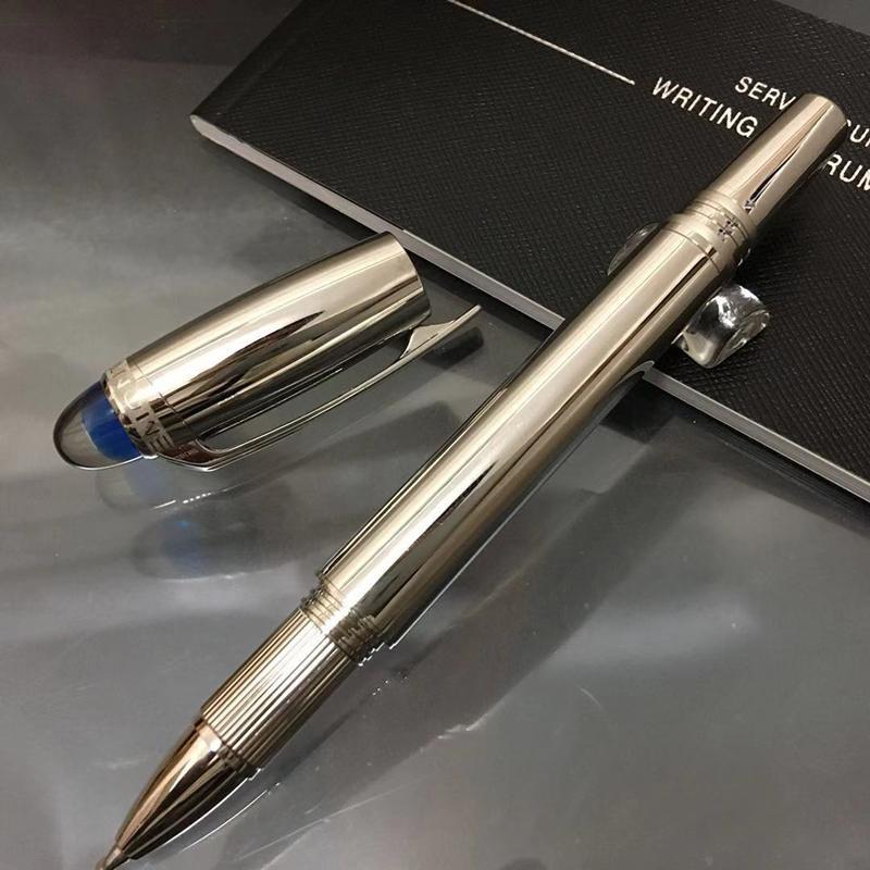أزياء العلامة التجارية الجديدة الأسطوانة الكرة من ركلة جزاء حبر أقلام الحبر مع الأزرق الفريدة كريستال الأعلى تصميم مكتب الأعمال المكتبية أقلام للهدايا