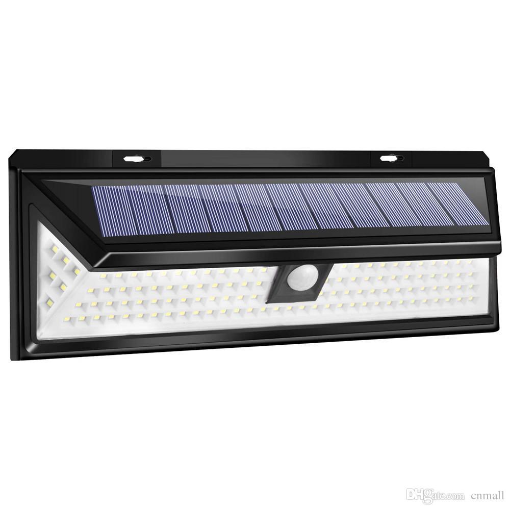 118 LED Solarleuchte Solarlampe mit Bewegungsmelder Außenleuchte Wandleuchte DHL
