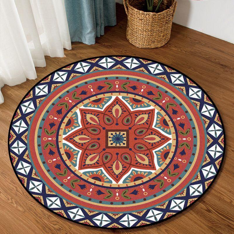 Modernes Design Vorleger Mode-ethnische Art Orange Rot Weiße Blumen Teppiche für Wohnzimmer Kinder Schlafzimmer Teppiche Alfombra