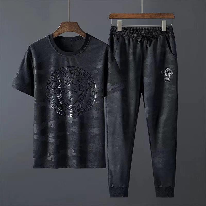 Дизайнер Tracksuit Men Luxury Тренировочные костюмы Осень Фирменные костюмы Jogger костюмы футболки футболки + брюки Комплекты досуг рынк Спорт Set Plus Size