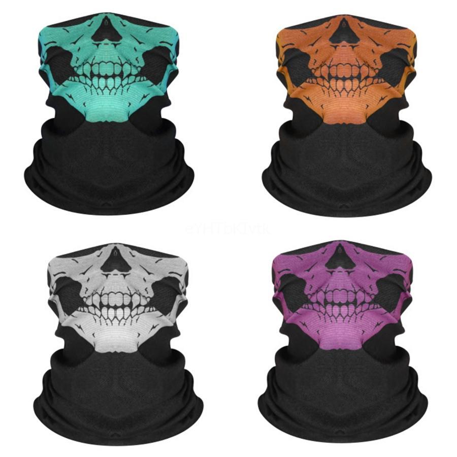 AZIONE DEGLI STATI UNITI, in bicicletta unisex Magic Head di protezione del lato Maschera Buff Biker Tube Bandana Skull Scarf Wristband Beanie protezione esterna di S # 849