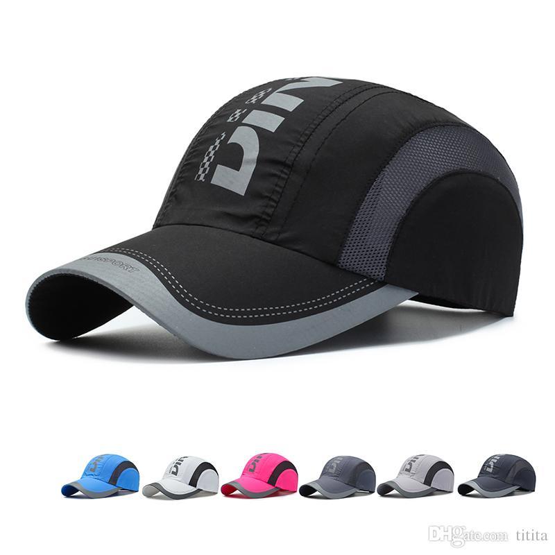 Chapéus Boné de beisebol para as mulheres homens Superfície líquida de secagem rápida verão Caps Ajustável Crânio Esporte Golf Curvo Hat frete grátis