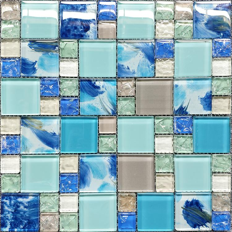 2021 Blue Light Green Gray Glass Mosaic Kitchen Backsplash Tile Jmfgt034 Crackle Glass Wall Tile For Bathroom Swimming Pool Tiles From Sophie Charm 13 86 Dhgate Com