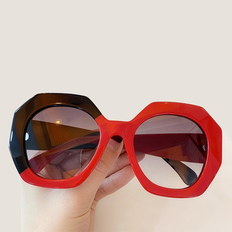 Nova moda mulheres luxo quadrado óculos de sol senhoras vintage oversize sol óculos grande quadro uv400 gradient máscaras ufomf