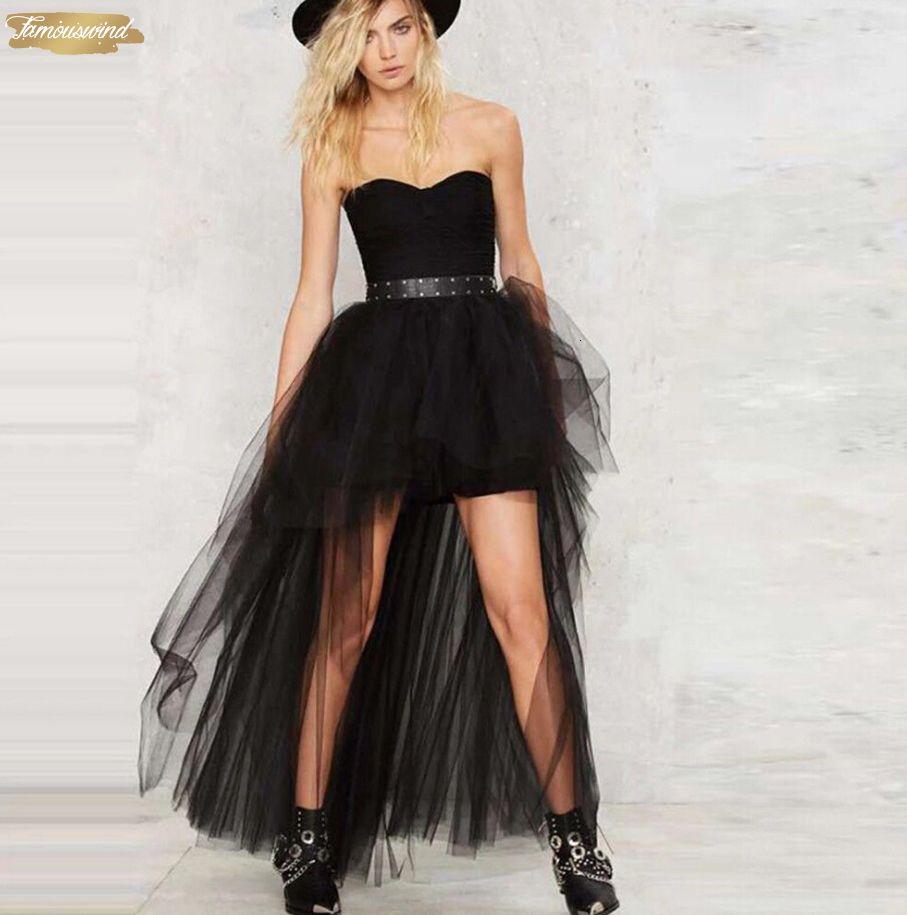 Women Skirts Fashion Girls Multi Layer Tulle Skirt Summer Solid High Waist Pleated Princess Long Maxi Tutu Ball Gown