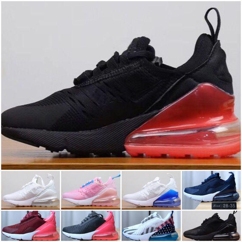 Nike air max 270 Günlük Ayakkabılar Bebek Eğitimi Spor ayakkabıları Boyutu 28-35 Ayakkabı Kızlar Koşu Ucuz Bebek Çocuk Çocuk Spor Ayakkabıları Erkek