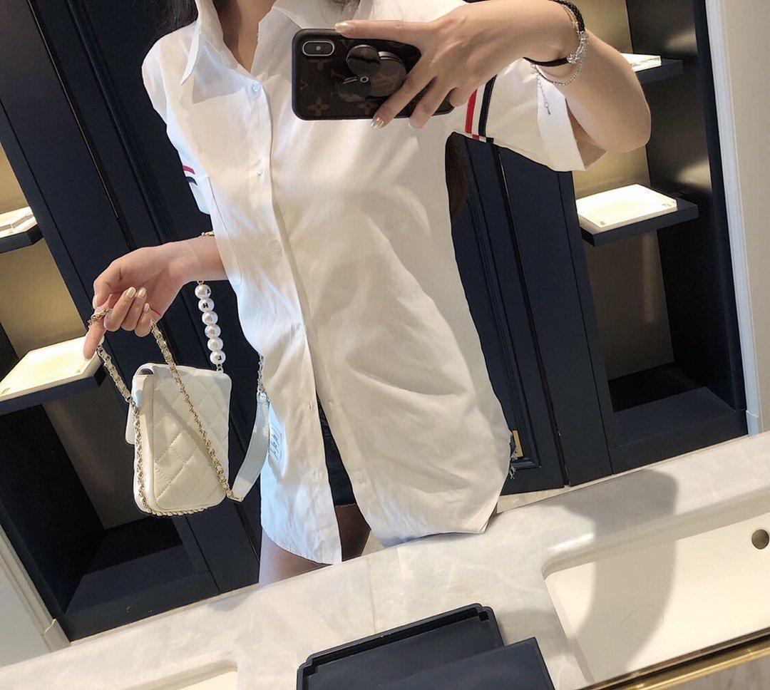Дизайнер блузка женской летних топов Блузки Топы для женщин блузки женщина горячим ринулся лучшим оптовые весной шарм 9KT5