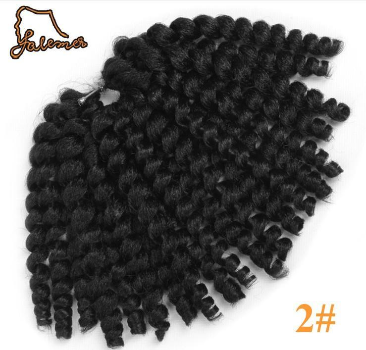8 inch Ombre Jumpy Wand braids 22 Jamaican Roots Curl crochet crochet Rebound Synthetic Hair Extension for Black Women