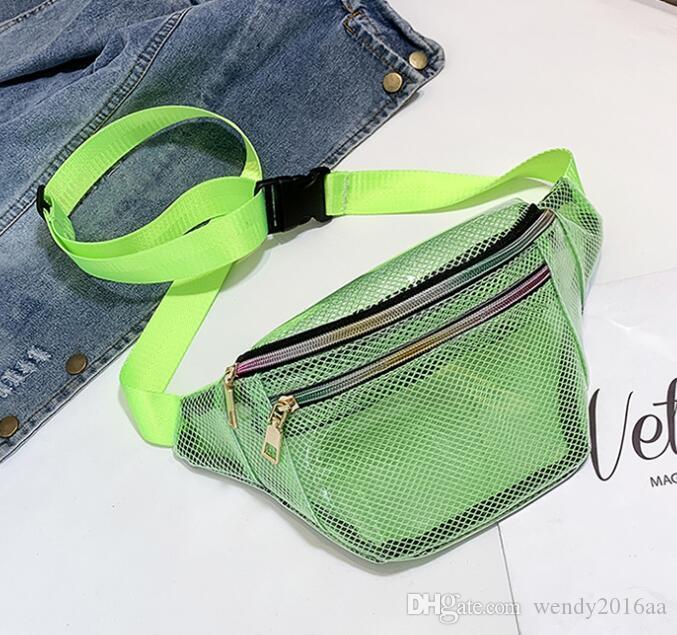 Sac de taille Sacs Sacs Jelly Arrivée Single 5Couleurs Dames Nouvelle ceinture Fanny Packs Grading PVC Beach Femmes Grading Outdoor XVOCU
