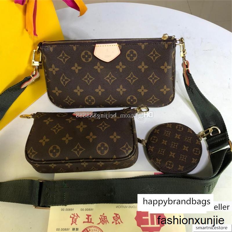 Tasarımcı lüks handbags'in çantalar Üç parça Suit Çanta ÇOK Poşet Mini bozuk para cüzdanı 19S ACCESSOIRES