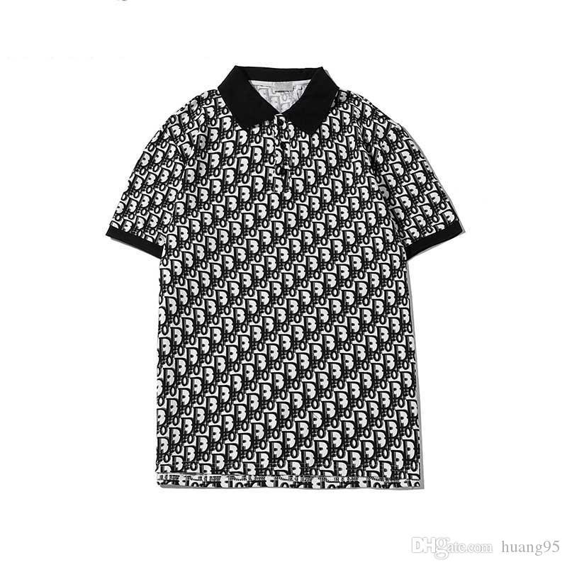 Para hombre de la camiseta ocasional clásica del POLO de la chaqueta del estilo del caballero de manga corta camiseta de la manera bordado opcional multi-color de polo de los hombres