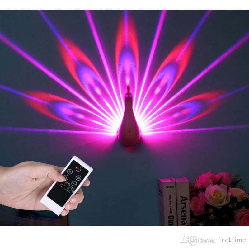 Beauty Peacock projector light remote touch control RGB color Peacock Light Par Light dyeing wall stage background for Stages Hotels shop