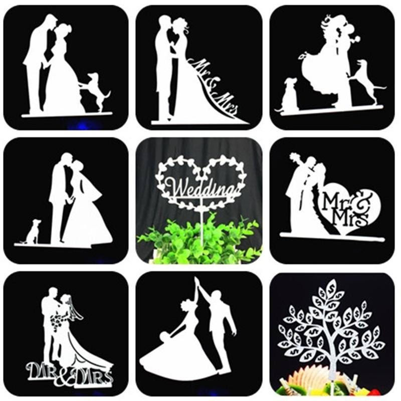 Bride And Groom Cake Topper Party Favors Mr Mrs Wedding Cake Topper Weeding Decoration Party Supplies Silver Wedding
