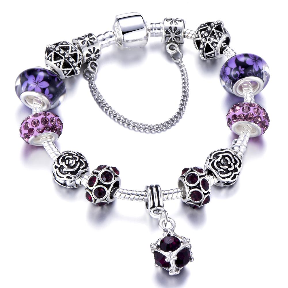 ca1fbc750 2019 HOMOD Authentic Silver Plated 925 Crown Beads Key Crystal Heart Charm  Bracelet Fits Pandora Bracelet For Women DIY Jewelry From Pingwang3, ...