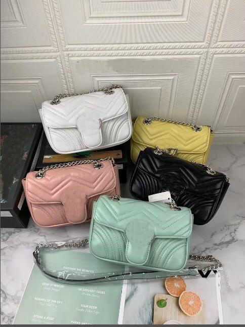 22 centímetros designer bolsas em bolsas mulheres cadeia única bolsa de ombro clássico Crosbody Messenger Bag França estilo paris totes saco de compras bolsa