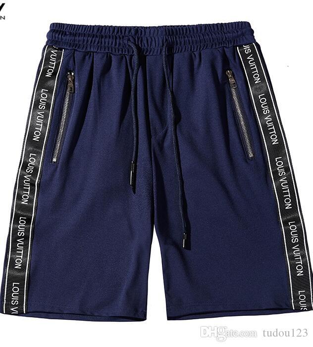 diseñador del verano pone en cortocircuito color de moda del bordado de impresión impresión del modelo masculino con cordón pantalones cortos pantalones deportivos ocio tendencia de lujo