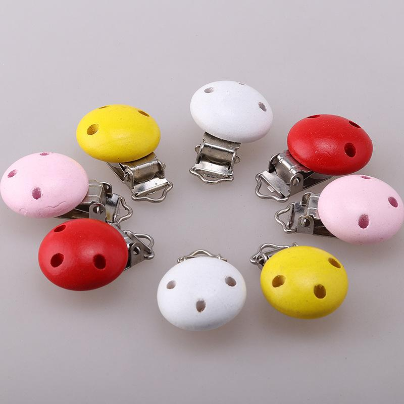금속 나무 아기 젖꼭지 클립 단색 홀더 귀여운 유아 수더 걸쇠 홀더 액세서리 6 색 젖꼭지 클립