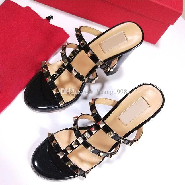 2019 المرأة مضخات أحذية الزفاف امرأة عالية الكعب صندل عارية الأزياء الكاحل الأشرطة المسامير أحذية مثير عالية الكعب أحذية الزفاف حجم 34-41 اوري