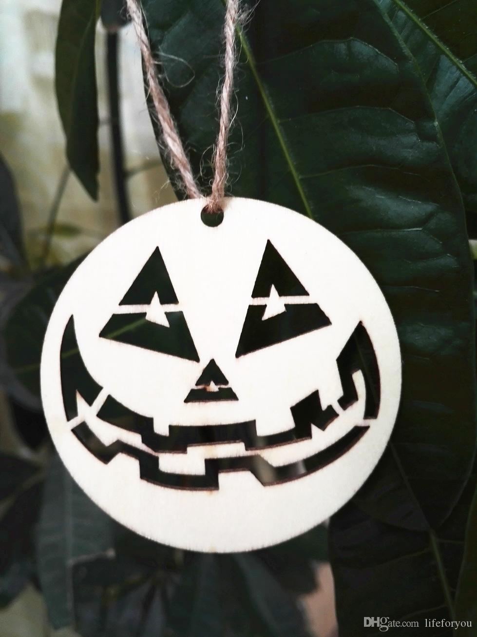 Хэллоуин украшения Хэллоуин лазерная резка деревянные тыквы небольшой Хэллоуин украшения партии декоративные украшения партии фестиваль партии поставщиков