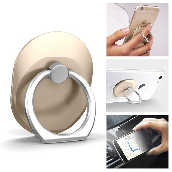 2019 Parmak Yüzük cep Telefonu Zil Tutucu Braketi Metal Tembel Yüzük Toka Cep Telefonu Braketi evrensel Cep Için 360 Derece Standı Tutucu