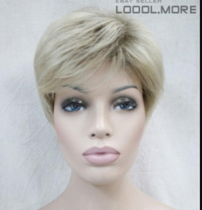 Парик LL горячая распродажа бесплатно $ # мода коричневый блондин смешанные короткие женские дамы ежедневный парик
