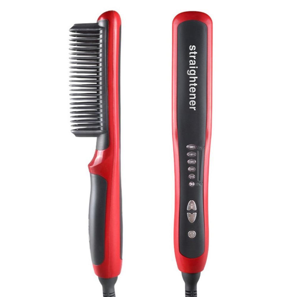 New Hair Beard Straightener Styler Hot Comb Ceramic Massage Straightening Irons Electric Multifunctional Brush Styling Machine