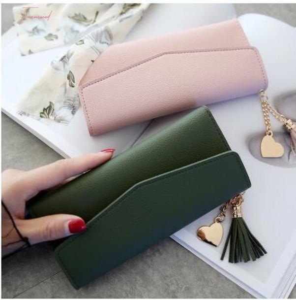 Fashion Morbido portafogli semplici in pelle lunga nero bianco soldi portafoglio borse sezione frizione borsa da donna borsa PU con cerniera rosso grigio Nuaod