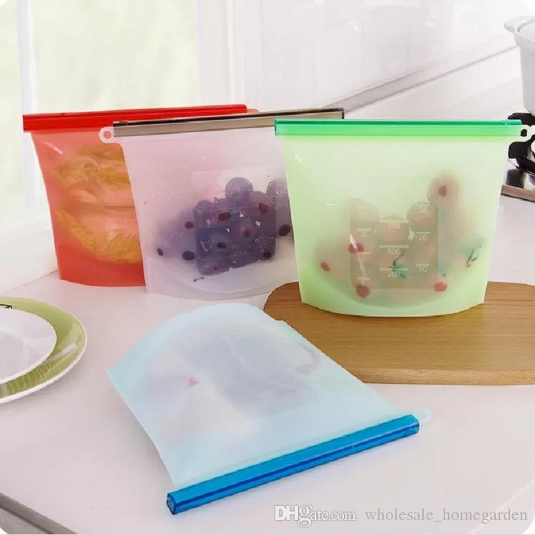 Reusable Silicone Food Storage Bags with expiry Date Didal Food Storage Bags 4 Colors Kitchen Dining Bags