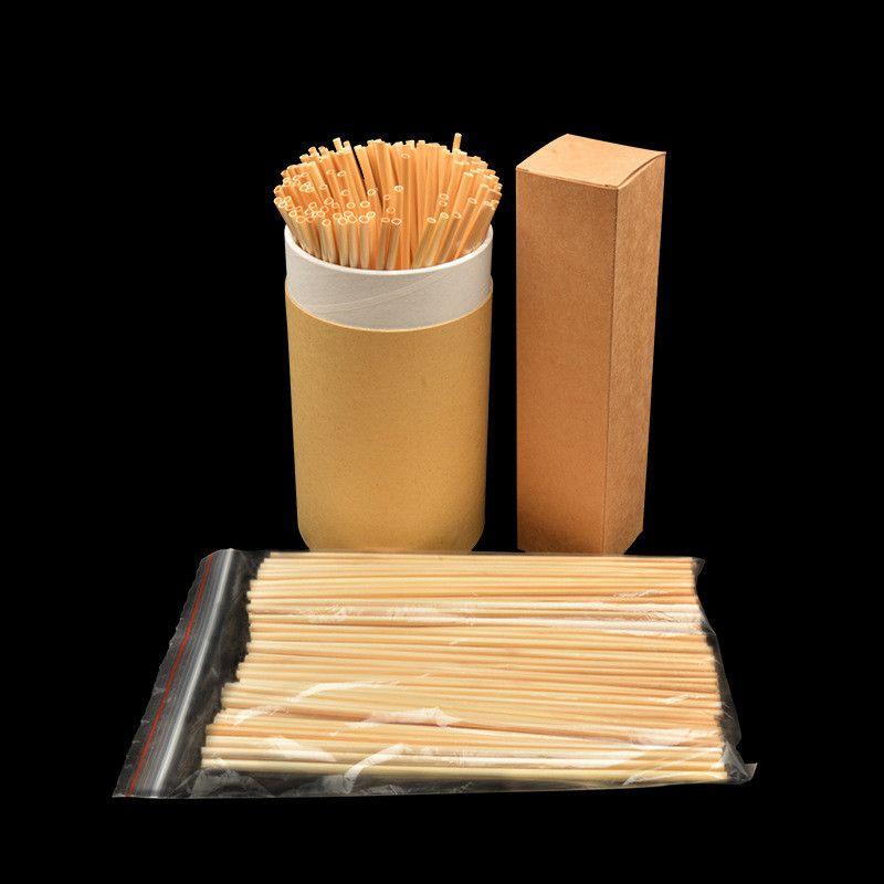 محمول سترو الطبيعية قش القمح 100٪ للتحلل سترو الخضراء اكسسوارات بار مطبخ 100 PCS شحن مجاني