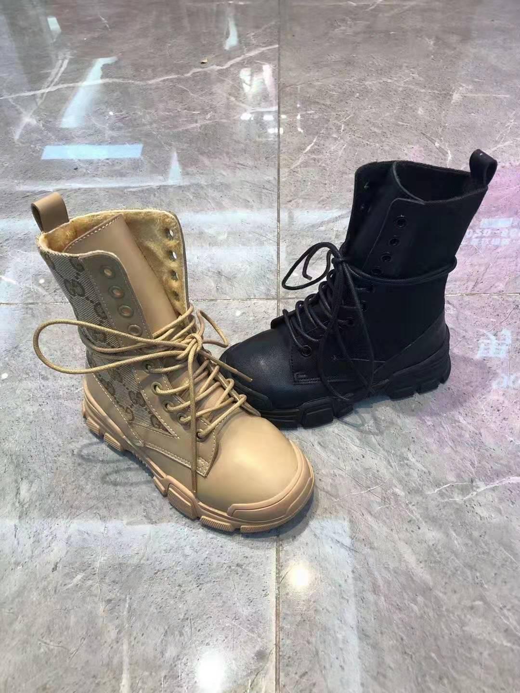 chaussures enfant hiver botte chaud pour enfant fille couleur brun G lettre conception petite fille bottes de neige fourrure chaussures chaudes noir garçon tout-petit botte de neige martin