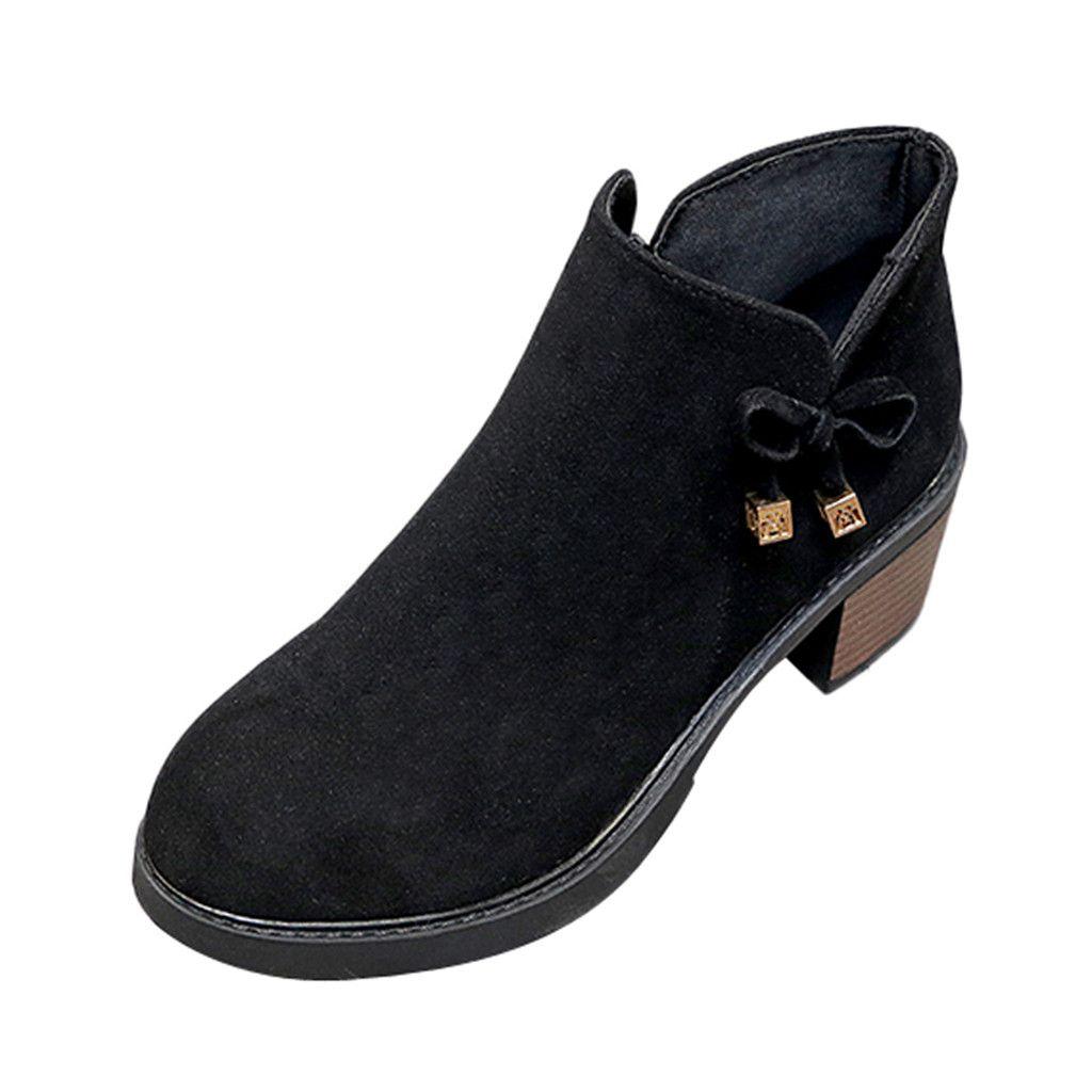 SAGACE أحذية نسائية ريترو أحذية سستة الجانب الكعب العالي القوس الكاحل أحذية السيدات الجوارب القصيرة الكلاسيكية أنثى شتاء دافئ 2019