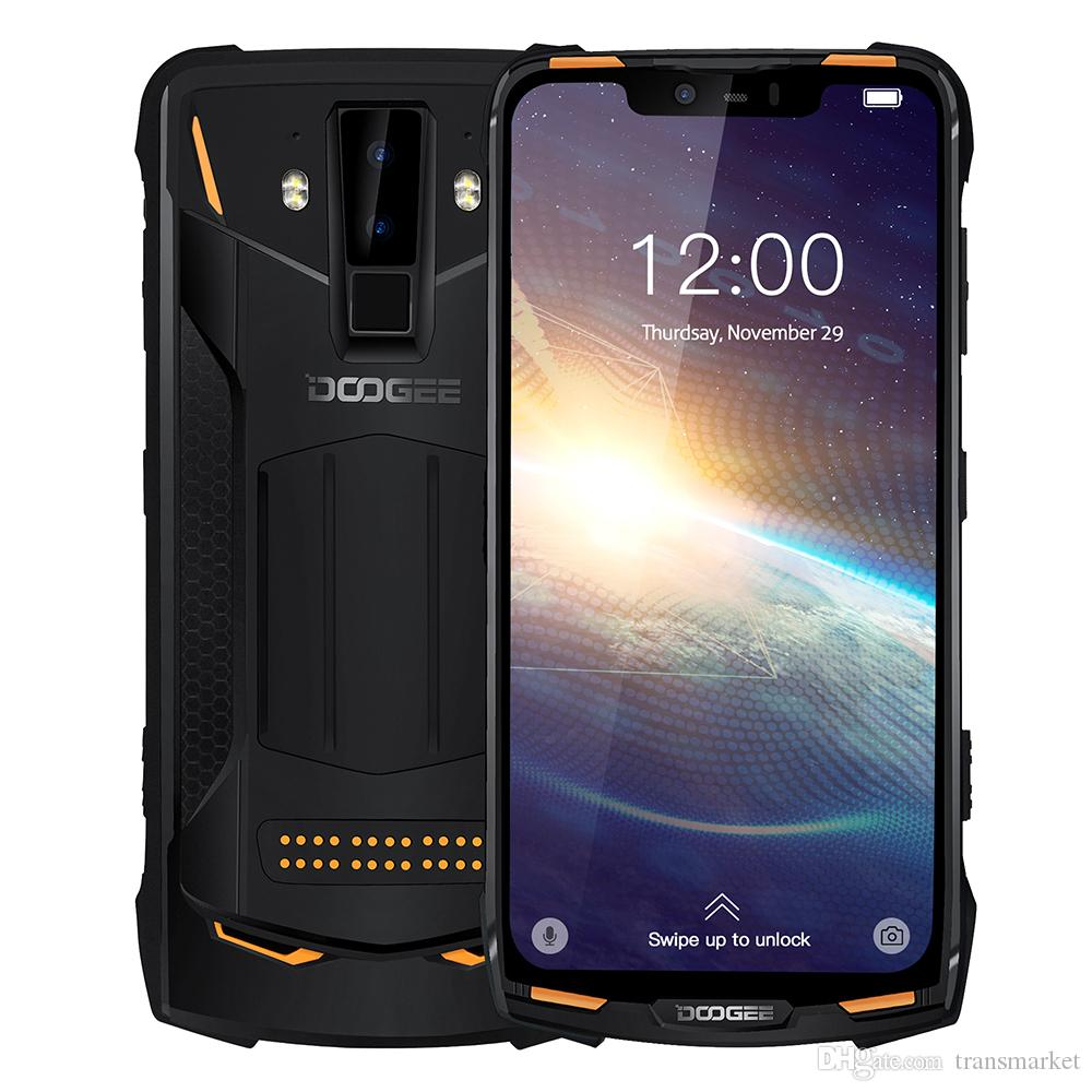 "Doogee S90 Pro Modüler Engebeli Cep Telefonu IP68 Helio P70 6.18 ""Ekran Octa Çekirdek 6 GB 128 GB 16MP + 8MP Android 9 12V2A Smartphone"