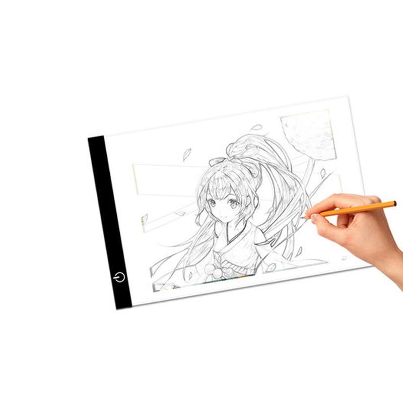 A4 Tablette graphique LED Digital Stepless Dessin Dessin Table Table Pads Tableau de Copie LED Boîte de Copie Tablette Écriture de peinture électronique