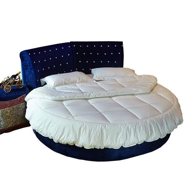 1Pcs puro cotone girocollo letti 220x220 Letto rotondo Quilt personalizzabile coprimaterasso Diametro Blanket
