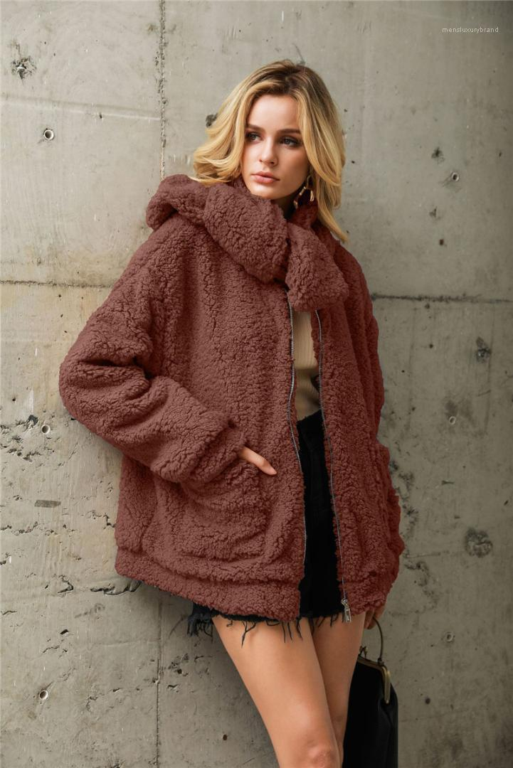 Fur Jacket With Same Scarf Casual Jacket Fashion Flocking Womens Autumn Winter Clothes Designer Womens Faux